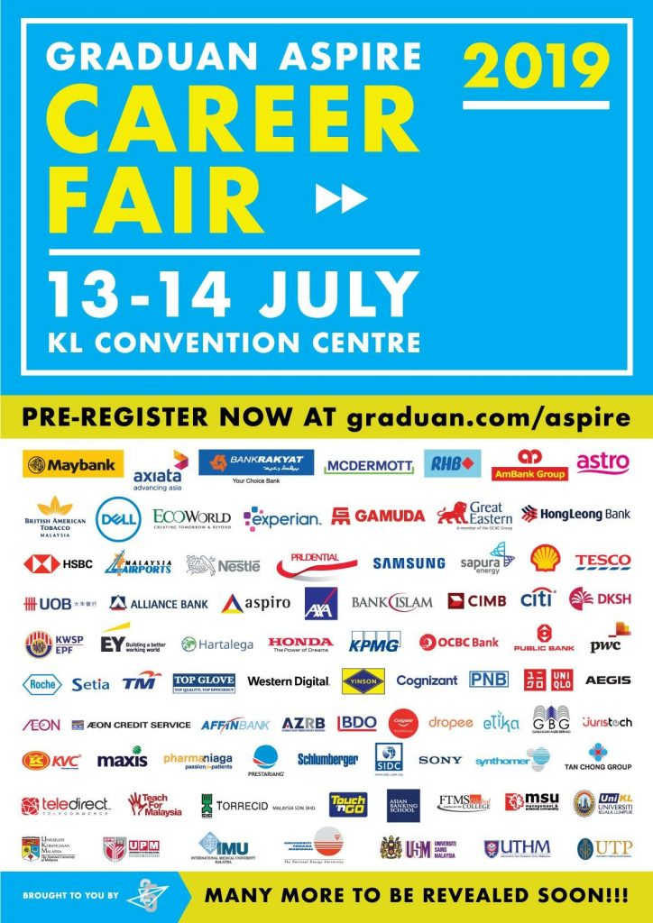 Graduan Aspire Career Fair 2019, a pathway for young graduates to have a better future.