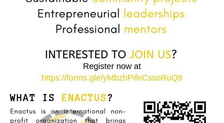 Welcome to be part of ENACTUS UNIMAS