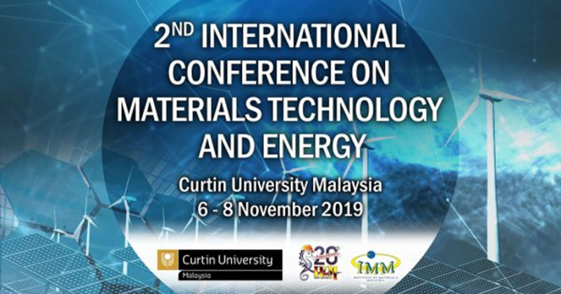 Curtin Malaysia hosting International Conference on Materials Technology and Energy in November