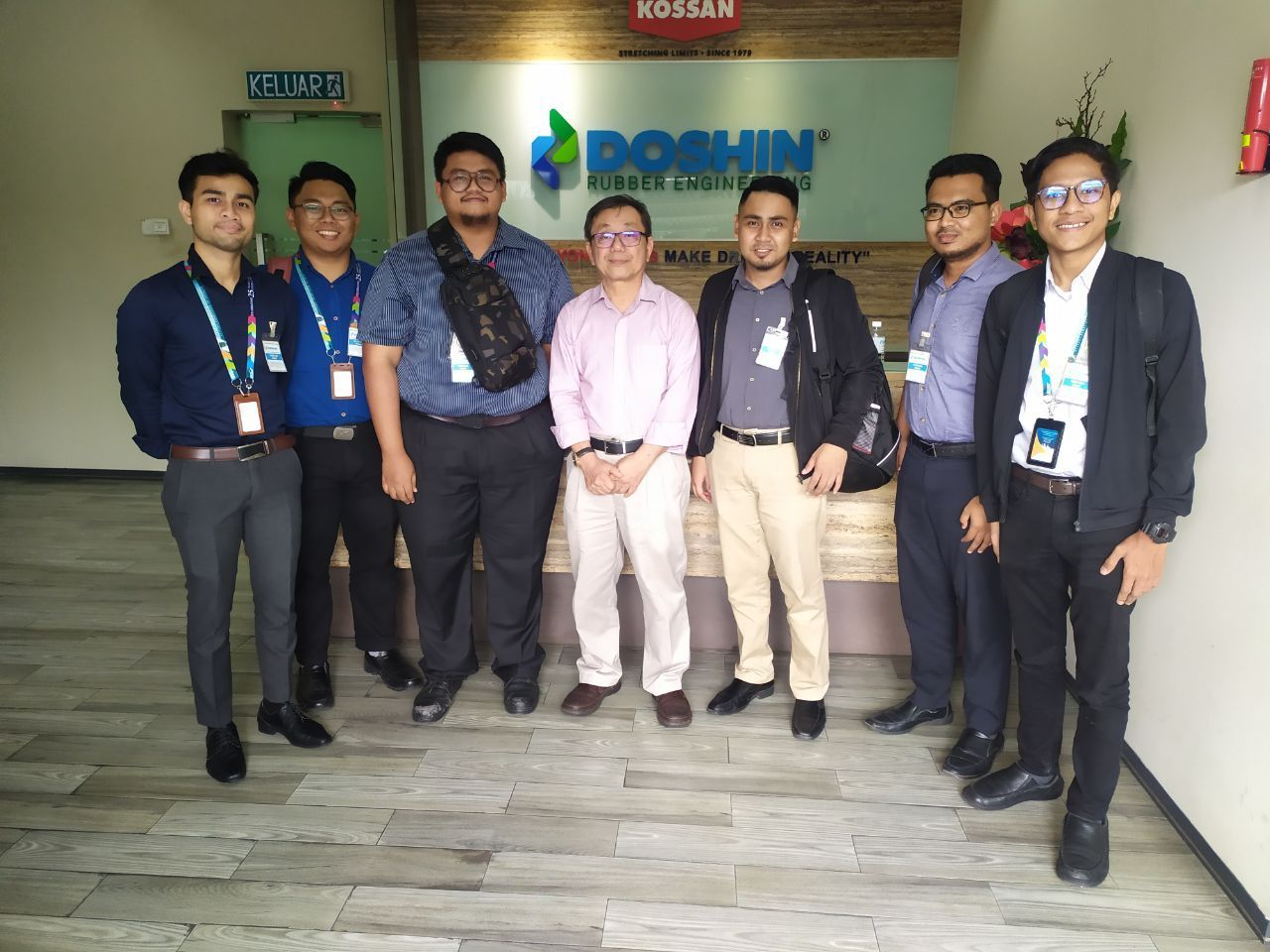 IAViC2019 Organising Committee Visit To Doshin Rubber Engineering