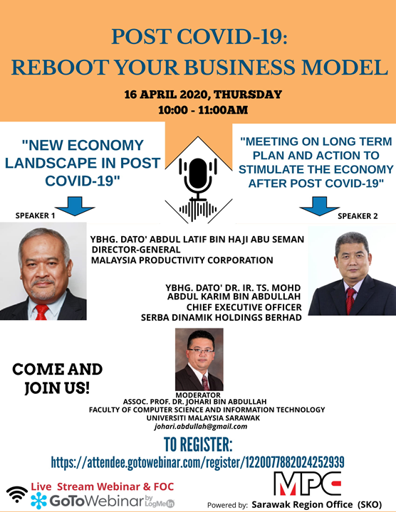 POST COVID -19: REBOOT YOUR BUSINESS MODEL