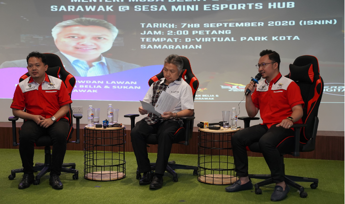 Walkabout Santai Esport Bersama Menteri Muda Belia & Sukan Sarawak..